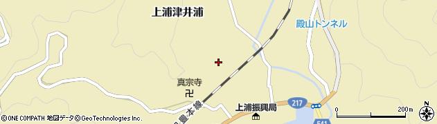 大分県佐伯市上浦大字津井浦1256周辺の地図