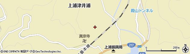 大分県佐伯市上浦大字津井浦1307周辺の地図