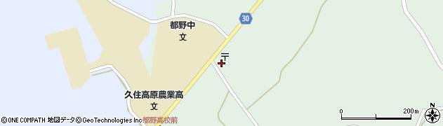 大分県竹田市久住町大字栢木周辺の地図