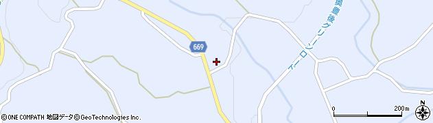 大分県竹田市久住町大字有氏石原周辺の地図