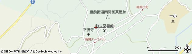 熊本県玉名郡南関町周辺の地図