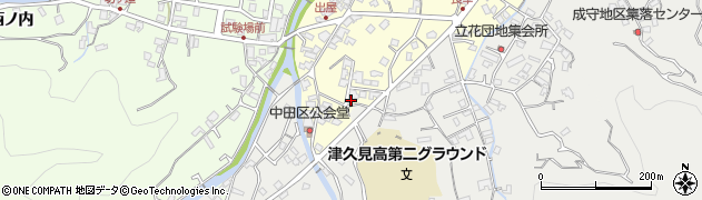 大分県津久見市立花町6周辺の地図