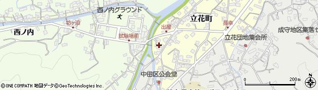 大分県津久見市立花町9周辺の地図