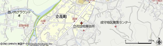 大分県津久見市立花町3周辺の地図