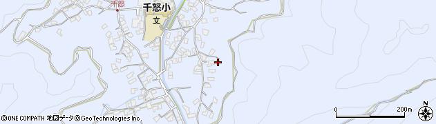 大分県津久見市千怒2787周辺の地図