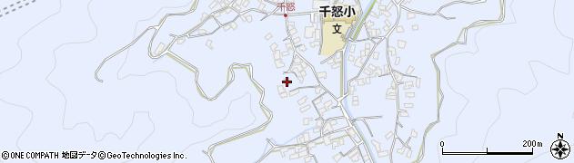 大分県津久見市千怒1691周辺の地図