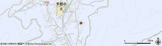 大分県津久見市千怒2780周辺の地図
