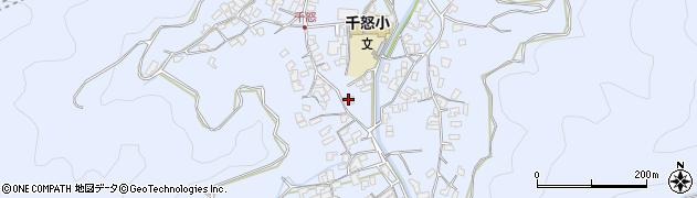 大分県津久見市千怒1701周辺の地図