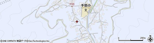 大分県津久見市千怒1686周辺の地図