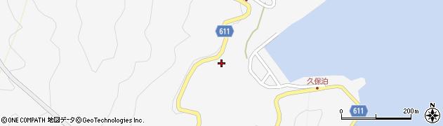 大分県津久見市四浦久保泊周辺の地図