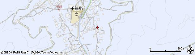大分県津久見市千怒2796周辺の地図