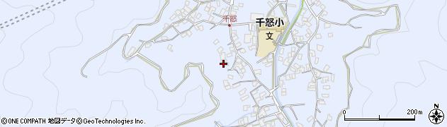 大分県津久見市千怒1661周辺の地図
