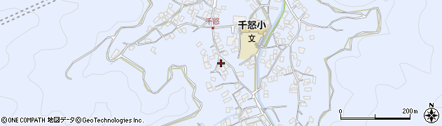 大分県津久見市千怒1676周辺の地図