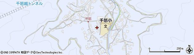 大分県津久見市千怒1418周辺の地図