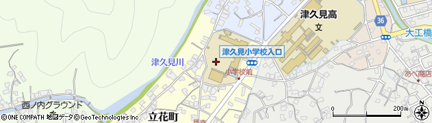 大分県津久見市立花町1周辺の地図