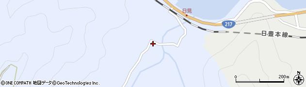 大分県津久見市日見1552周辺の地図