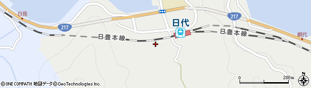 大分県津久見市網代414周辺の地図