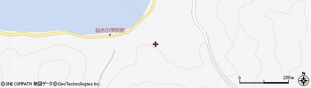 大分県津久見市四浦鳩浦周辺の地図