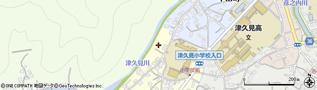 大分県津久見市立花町13周辺の地図