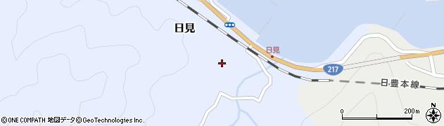 大分県津久見市日見1494周辺の地図
