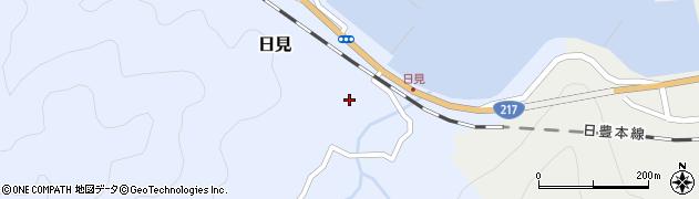 大分県津久見市日見1512周辺の地図
