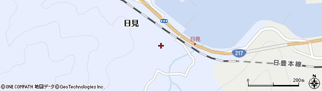 大分県津久見市日見1493周辺の地図