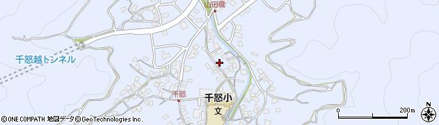 大分県津久見市千怒1342周辺の地図