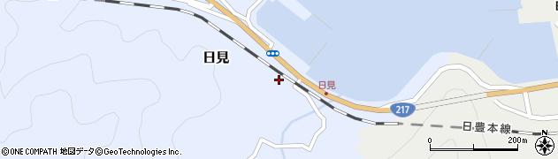 大分県津久見市日見1484周辺の地図