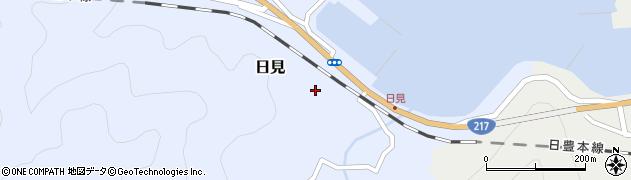 大分県津久見市日見1479周辺の地図