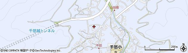 大分県津久見市千怒久保周辺の地図