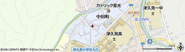 大分県津久見市中田町3周辺の地図