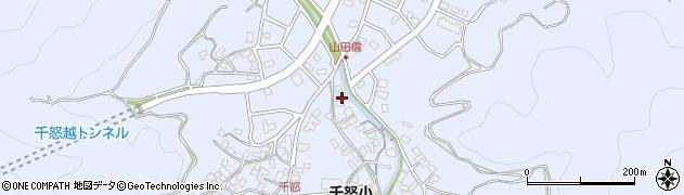 大分県津久見市千怒1324周辺の地図