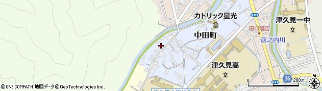 大分県津久見市中田町6周辺の地図