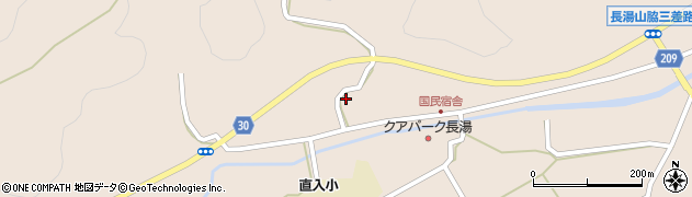 大分県竹田市直入町大字長湯3126周辺の地図