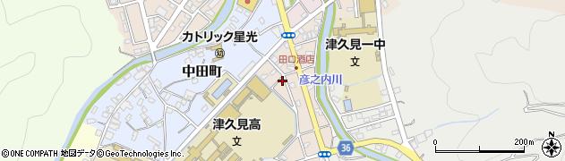 大分県津久見市文京町10周辺の地図
