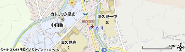 大分県津久見市文京町4周辺の地図
