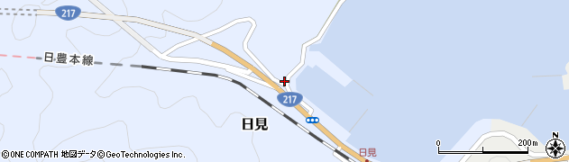 大分県津久見市日見1431周辺の地図