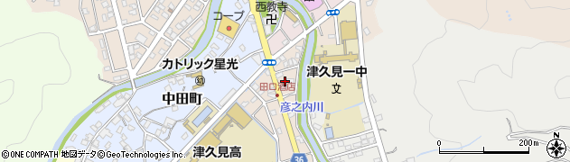 大分県津久見市文京町3周辺の地図