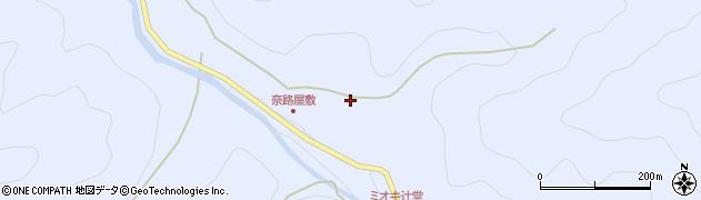 高知県四万十市奥鴨川周辺の地図