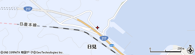 大分県津久見市日見1430周辺の地図