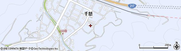 大分県津久見市千怒7349周辺の地図