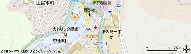 大分県津久見市文京町2周辺の地図
