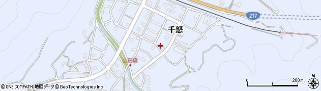 大分県津久見市千怒7342周辺の地図