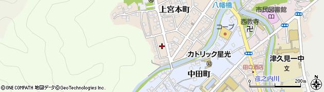 大分県津久見市上宮本町14周辺の地図