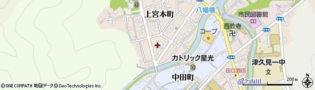大分県津久見市上宮本町6周辺の地図