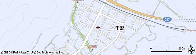 大分県津久見市千怒7301周辺の地図