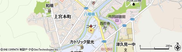 大分県津久見市中田町1周辺の地図