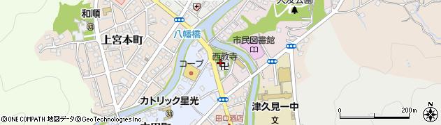 大分県津久見市大友町3周辺の地図