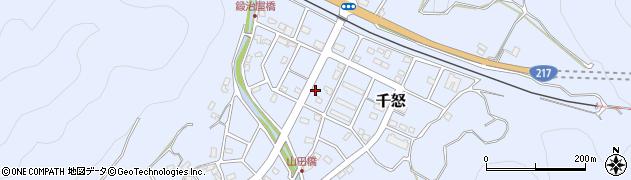 大分県津久見市千怒7306周辺の地図