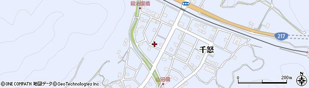 大分県津久見市千怒7187周辺の地図